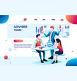 infographic with financial chart vector image vector image