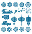 japanese and chinese asian motif decor vector image vector image