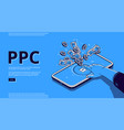 landing page pay per click vector image