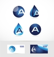 Letter A logo water drop vector image vector image