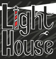 light house black and white in background vector image vector image