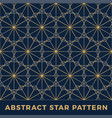 luxury gold stars seamless pattern background vector image