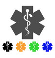 medical life star icon vector image vector image