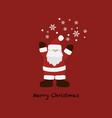 merry christmas card with santa claus and snow vector image