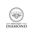 modern diamond logo vector image vector image
