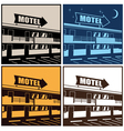 motel vector image