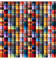 Multicolored geometric structure vector image