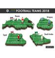 national soccer teams 2018 group vector image