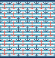 nautical striped pattern with anchors vector image