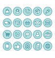 online shopping flat line icons e-commerce vector image vector image