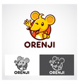 Orenji Mouse Symbol vector image vector image
