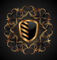 ornate heraldic shield vector image vector image