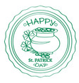 outline of a patrick day label vector image