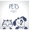 Pets silhouette vector image