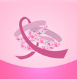 pink ribbons breast cancer awareness banner vector image vector image