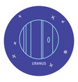 planet uranus icon in thin line style vector image