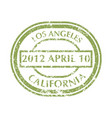 postal stamp from los angeles vector image