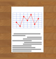 red line chart vector image vector image