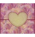 Romantic Love letter Valentine background EPS10 vector image vector image