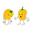 sad and surprised emotional vegetable vector image vector image