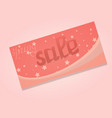 sale card stars lettering vector image vector image