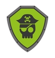 security shield with isolated icon design vector image