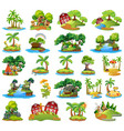 set nature island vector image vector image