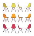 Set of chairs vector image vector image