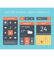 set of mobile interface vector image vector image