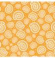 Shell seamless pattern on spotted background vector image