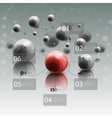 Spheres in motion on gray background Red sphere vector image vector image