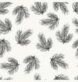 spurce seamless pattern hand drawn sketch vector image vector image