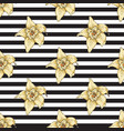 striped seamless pattern with vanilla flower vector image vector image