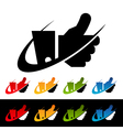 Swoosh thumbs up icons vector | Price: 1 Credit (USD $1)