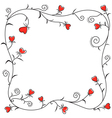 valentine heart border vector image vector image