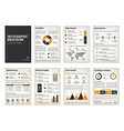 Vintage business A4 brochures with infographic vector image vector image