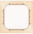 Vintage imperial frame grunge background vector image vector image