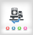 washer delivery vector image