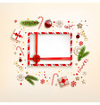 winter background with gift vector image vector image
