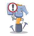 with sign hammer character cartoon emoticon vector image