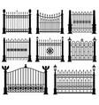 decorative wrought fences and gates set vector image