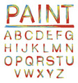 letters alphabet painted vector image