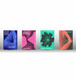 a set of modern covers vector image