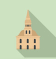 architecture riga building icon flat style vector image vector image
