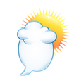 background on the weather vector image vector image
