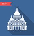 basilica sacre coeur paris france monument vector image vector image