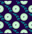 beautiful seamless pattern with blue floral vector image vector image