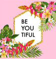 blooming summer floral frame poster sale banner vector image vector image