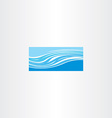 blue river wave icon vector image vector image