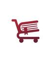 book store smart logo template vector image